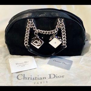 Dior Suede Gambler Bowler Bag